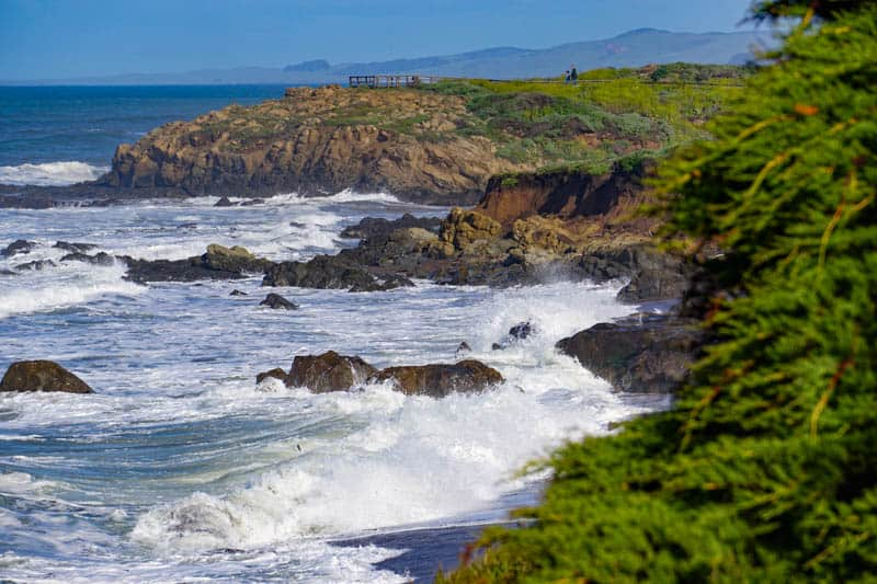 View from Moonstone Beach Boardwalk in Cambria on the Central California Coast