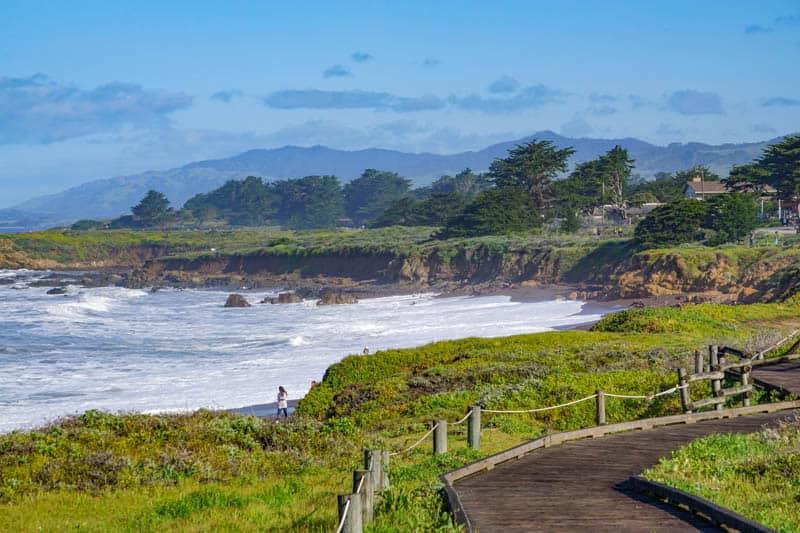 Moonstone Beach Boardwalk Trail in Cambria California