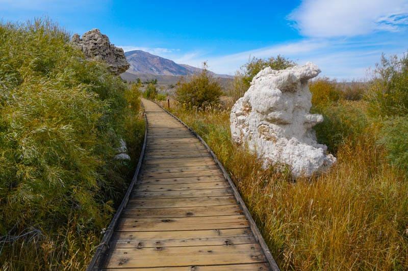 Walking Mono lake Boardwalk Trail California