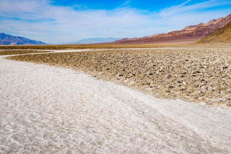 Salt Flats Badwater Basin Death Valley NP California