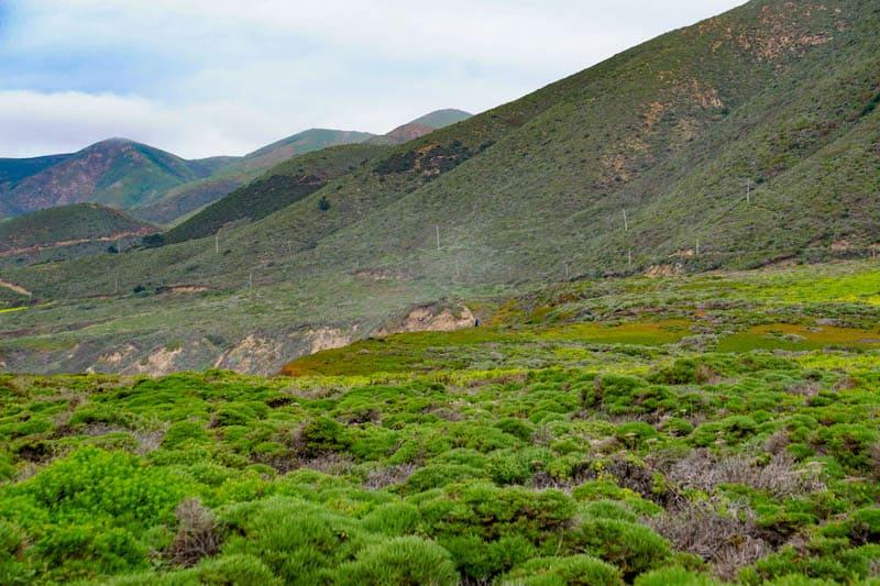 Big Sur hillsides California