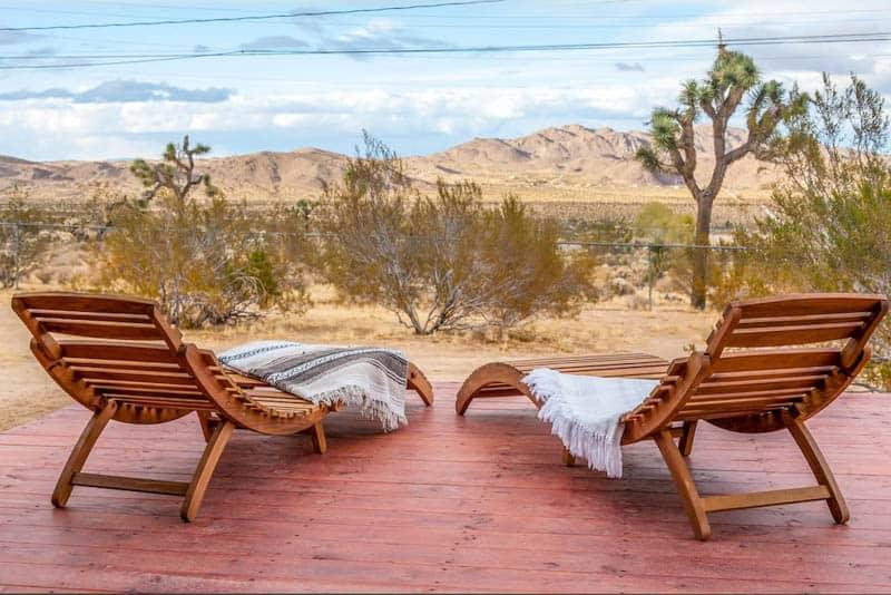 View from Casa Linda Airbnb Joshua Tree