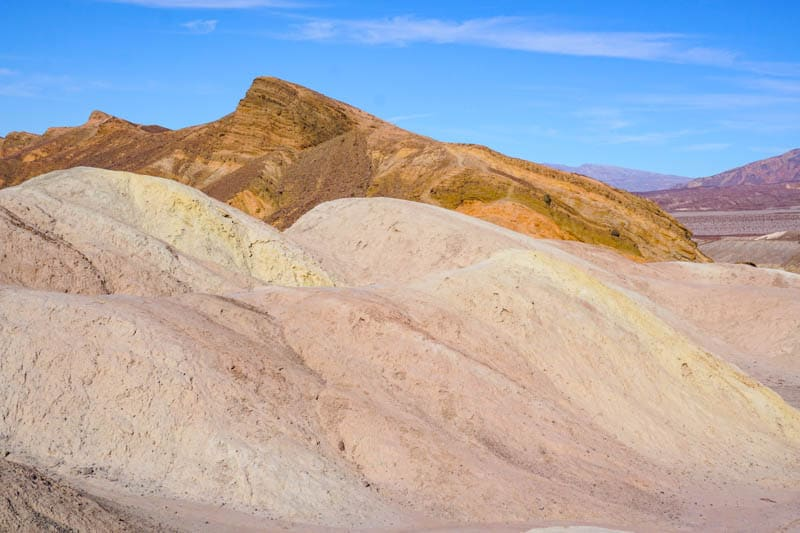 Colorful rocks in Death Valley National Park