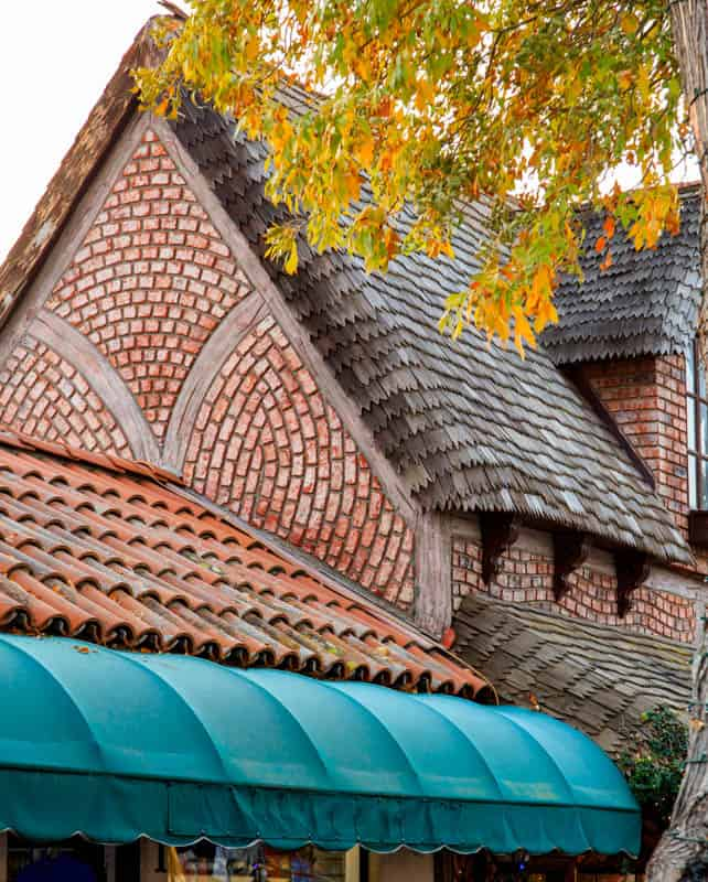 Architectural detail on a building in Solvang California