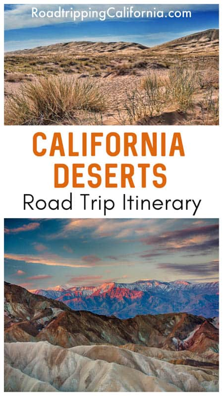 Click to discover a detailed day-by-day itinerary for an epic road trip through the southern California deserts, from Death Valley National Park to Joshua Tree National Park and more!