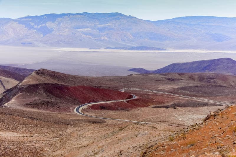 Vista from Father Crowley viewpoint in Death Valley National Park California