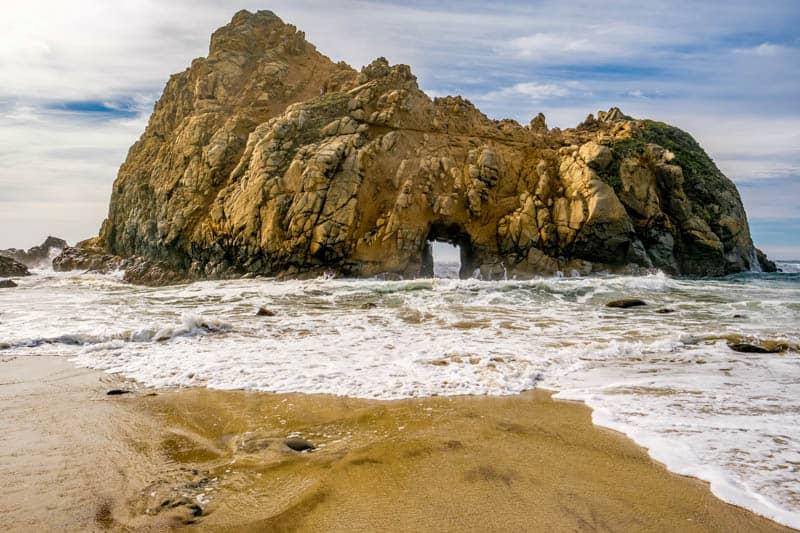 Keyhole Rock Pfeiffer Beach Big Sur California