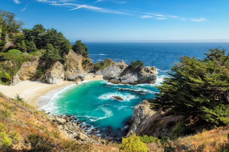 McWay Falls in Big Sur is a must visit on your Big Sur road trip!