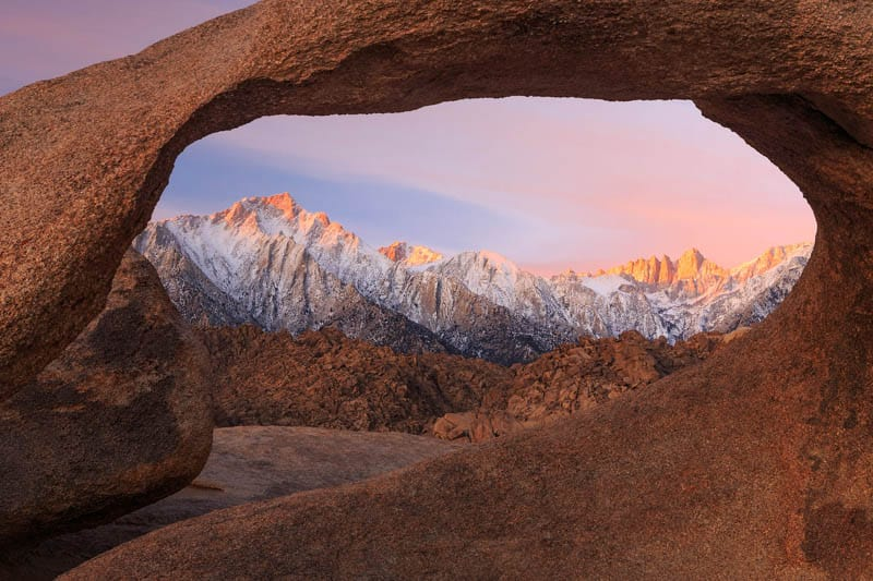 Mobius Arch at Alabama Hills is a must visit on a California deserts road trip