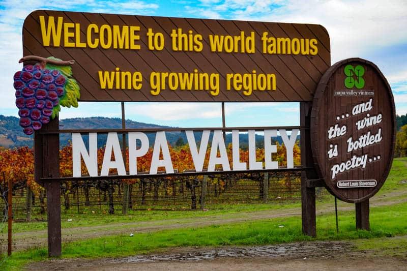 Napa Valley Sign California