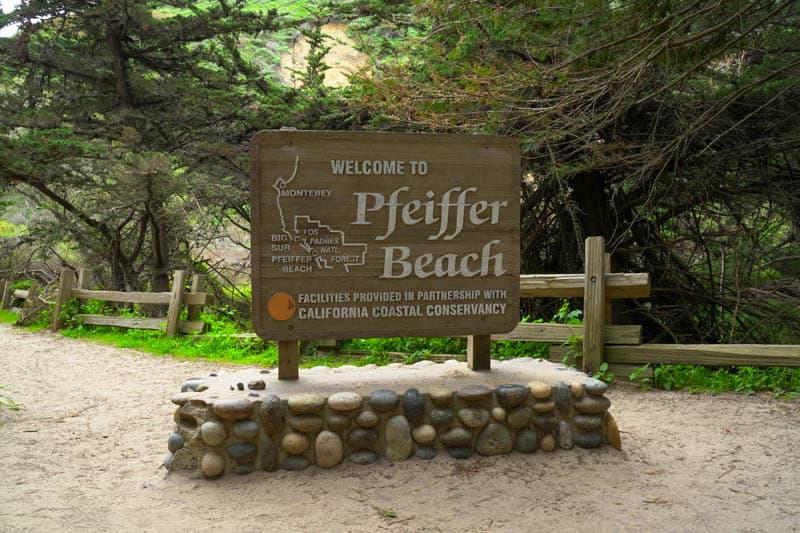 Pfeiffer Beach sign