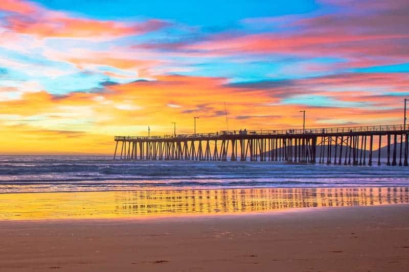 Sunset in Pismo Beach California