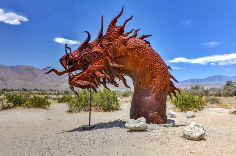 Sculpture in Anza-Borego Desert State Park California