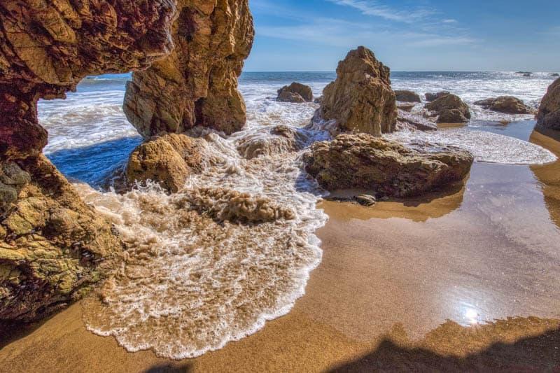 Sea Cave at El Matador Beach in Malibu California