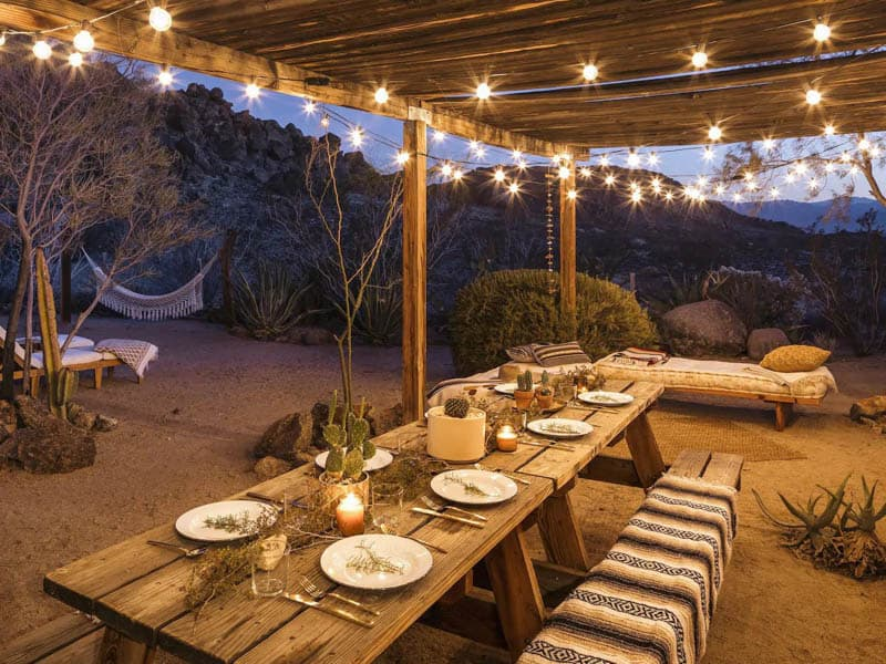The Casita Outdoor Eating Area