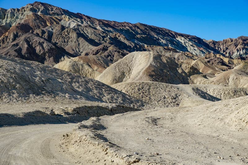 Driving Twenty Mule Canyon Road in Death Valley National Park California