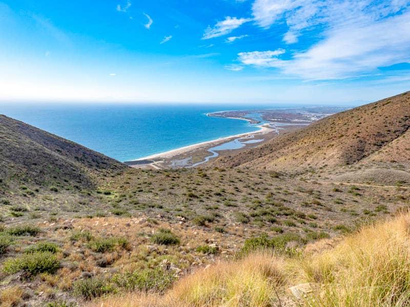 A view from Mugu Peak Trail in Point Mugu State Park California