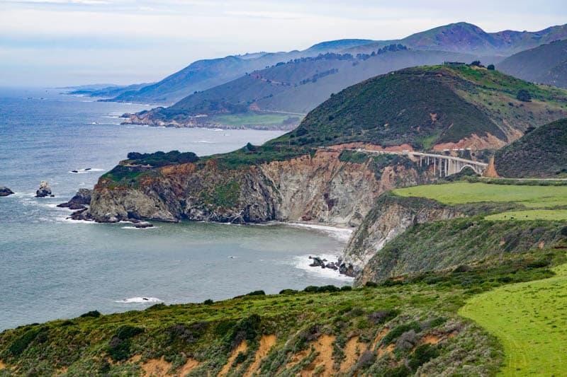 View of Big Sur California