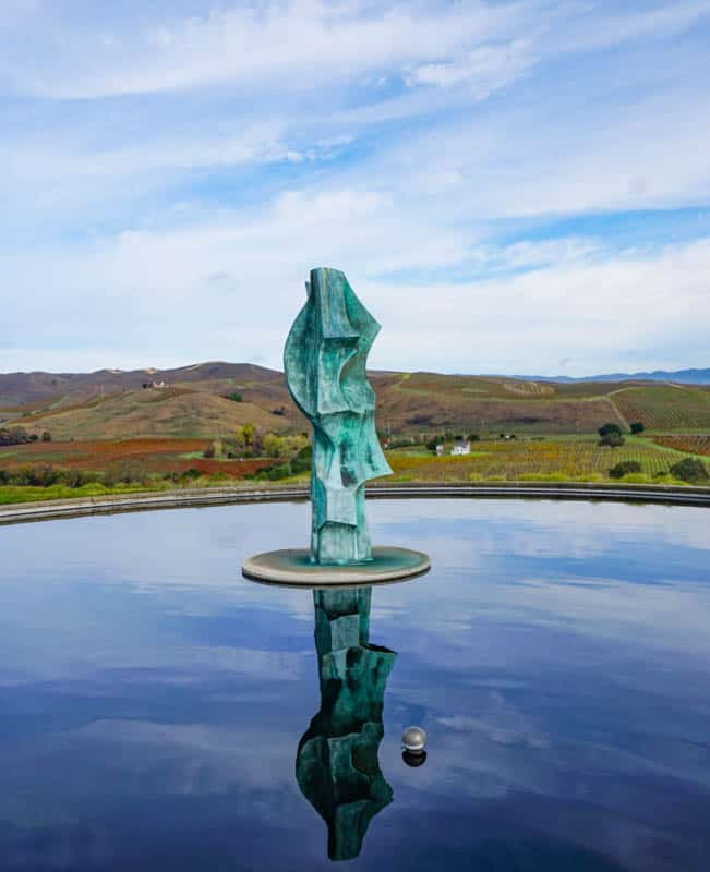 Water Feature at Artesa Wnery in Napa Valley California