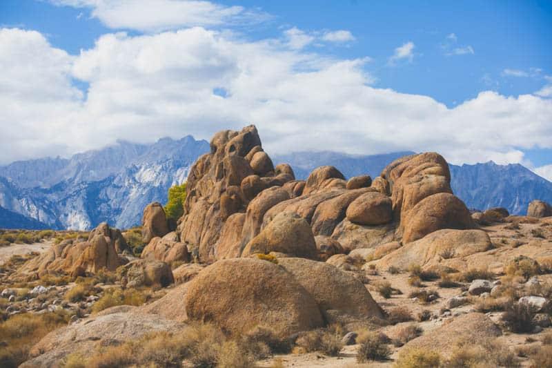 Rock formations at Alabama Hills