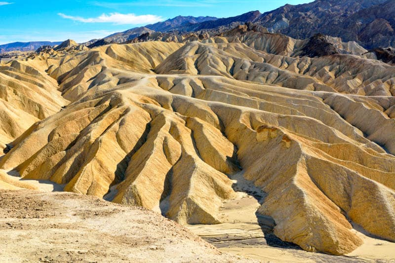 Badlands at Death Valley National Park in California