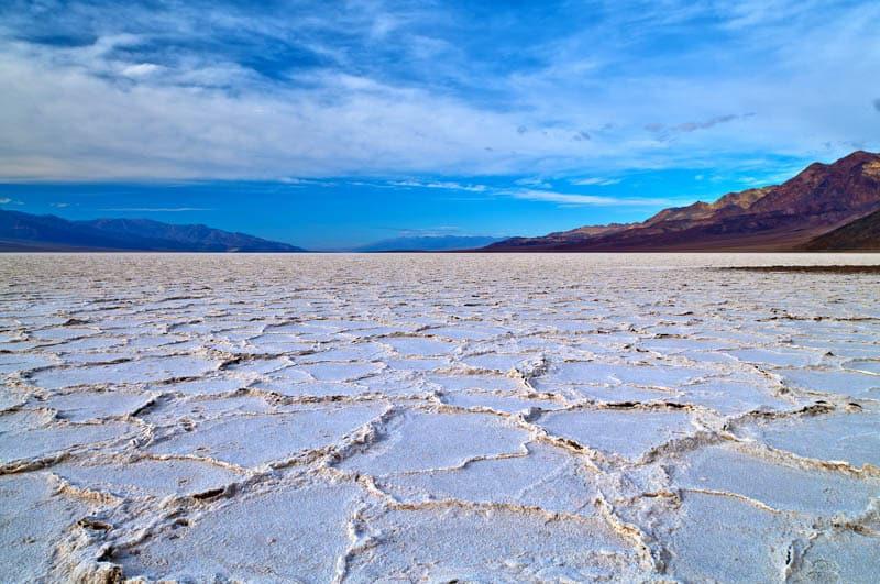 Badwater Salt Flat Death Valley National Park California