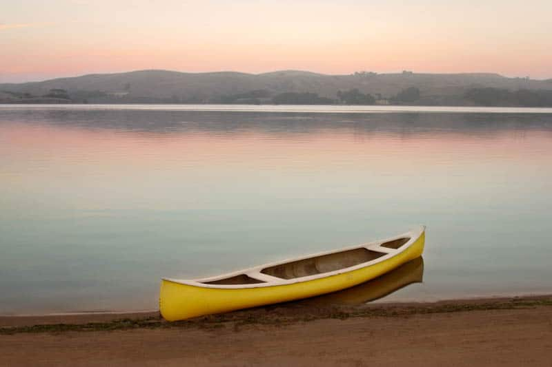 Beach in Tomales Bay State Park in California
