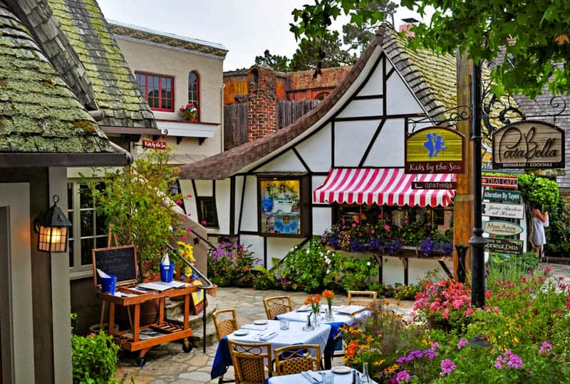 The village of Carmel by the Sea in  California