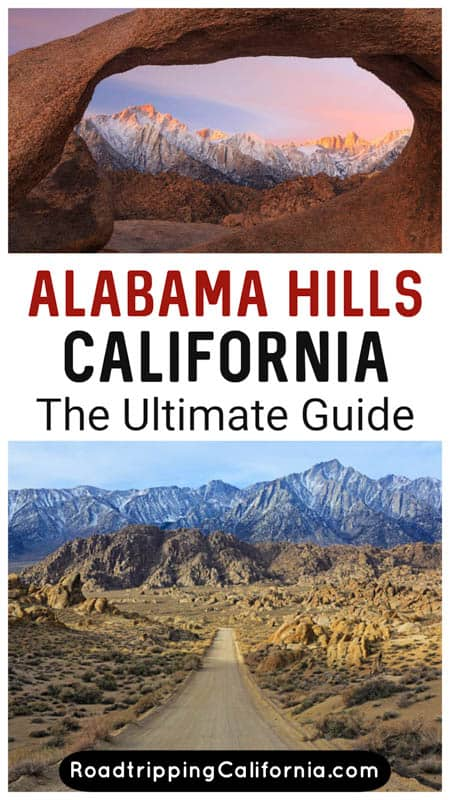 The ultimate guide to the Alabama Hills in the Owens Valley near Lone Pine in eastern California. Beautiful scenery, movie locations, arches and hikes!