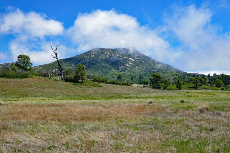 View from trail in Cuyamaca Rancho State Park California