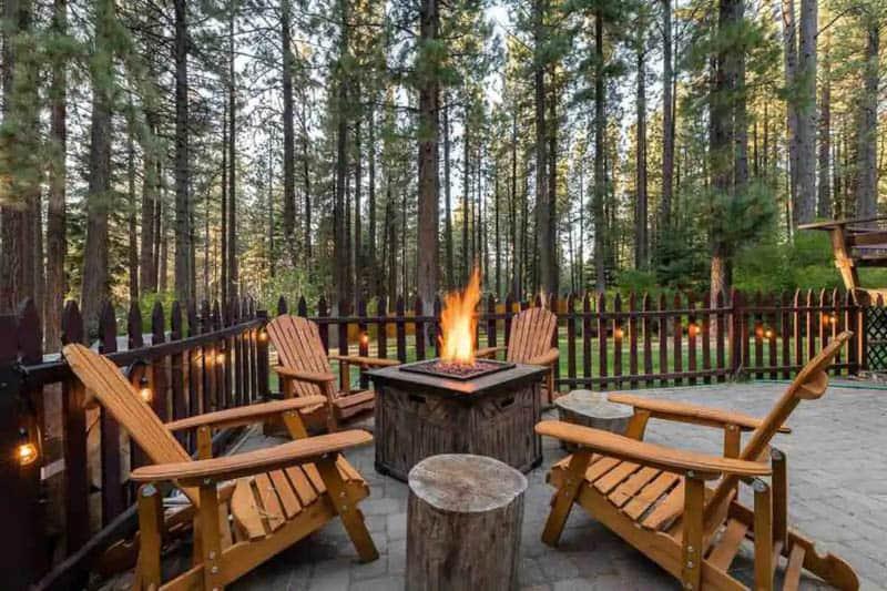 Deck Heavenly Cabin Tahoe Airbnb