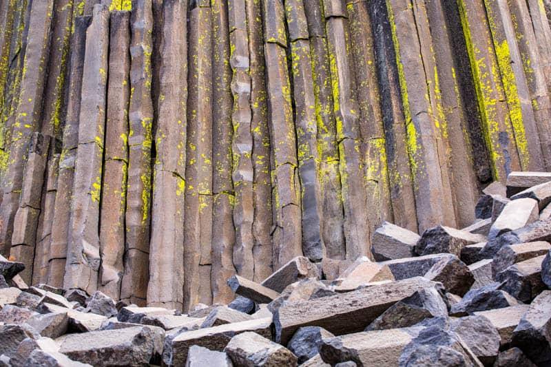 Devils Postpile Basalt Columns, Mammoth Lakes, California