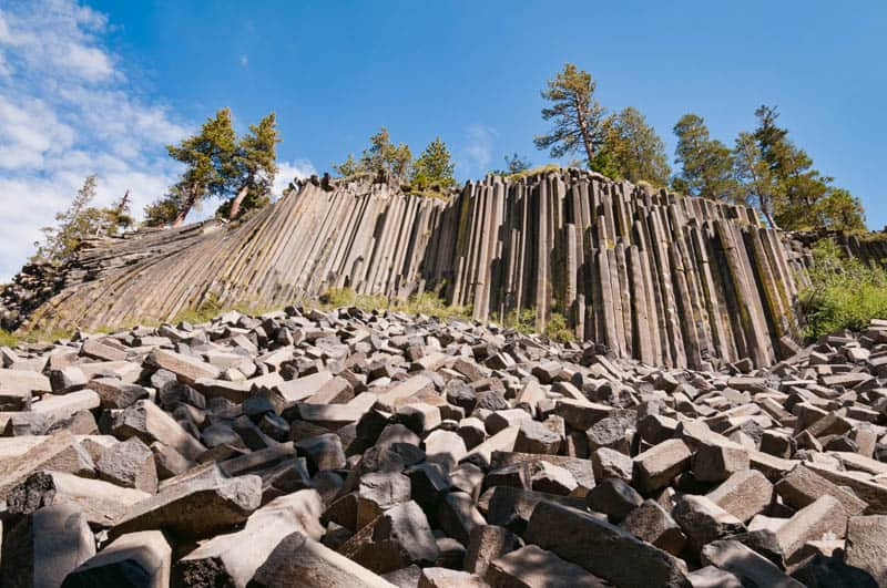 Devils Postpile National Monument at Mammoth Lakes California