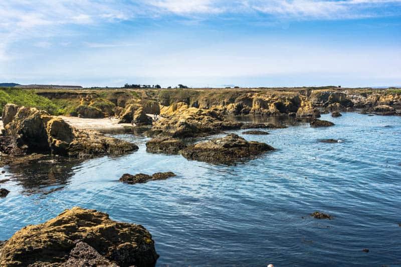 Rocky coastline at Fort Bragg California