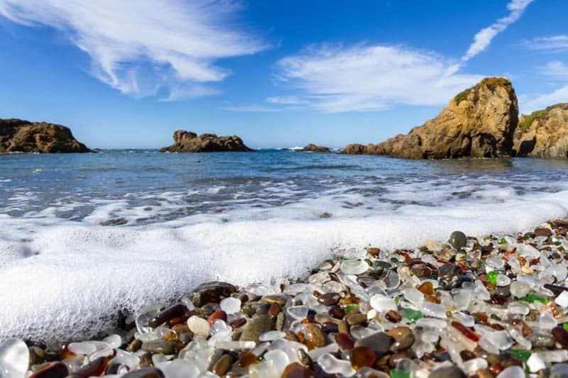 Glass Beach in Fort Bragg California