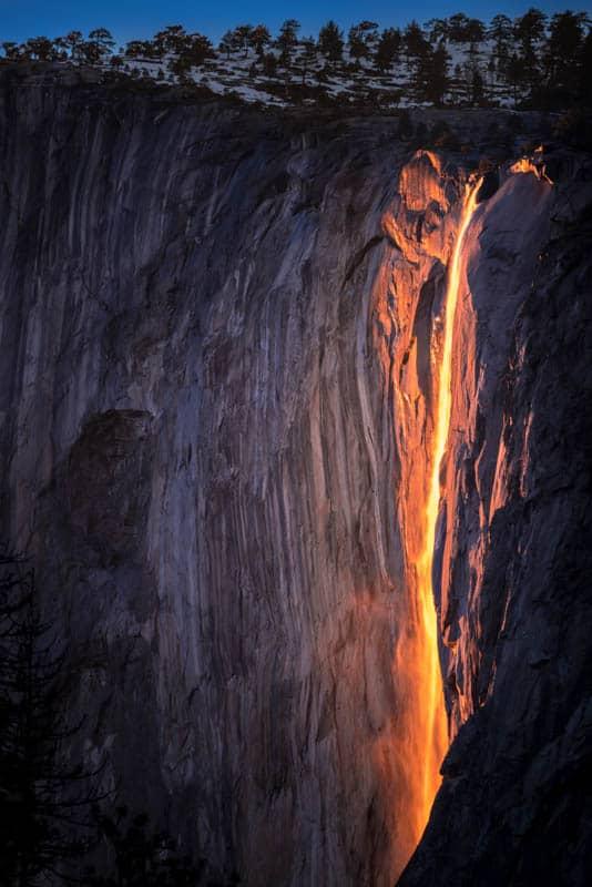 Horsetail Fall Yosemite National Park California