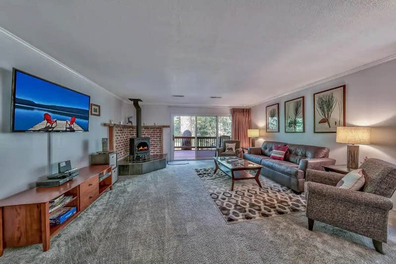 Living Room Incline Village Tahoe Airbnb