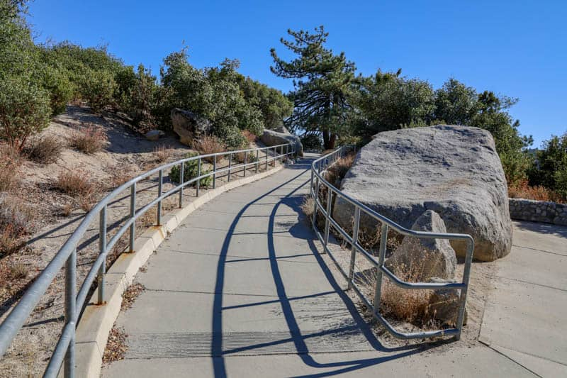 Path to the Indian Vista Viewpoint on the Palms to Pines Scenic Byway in California