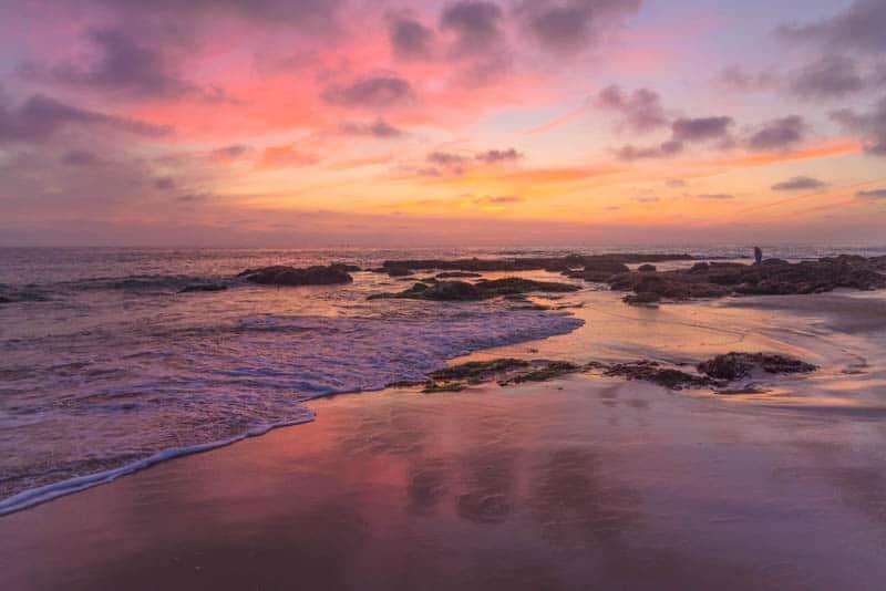 Sunset at a beach in Laguna Beach