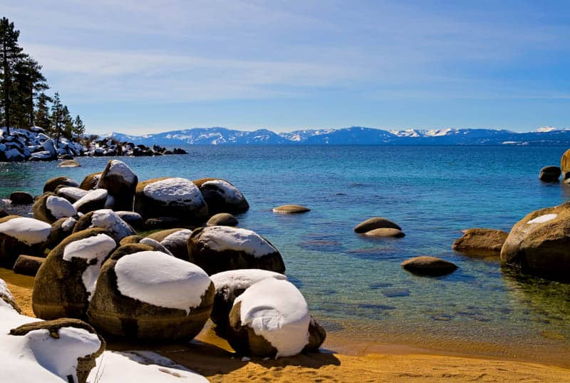 A cozy cabin is the perfect base in Lake Tahoe on a winter break!