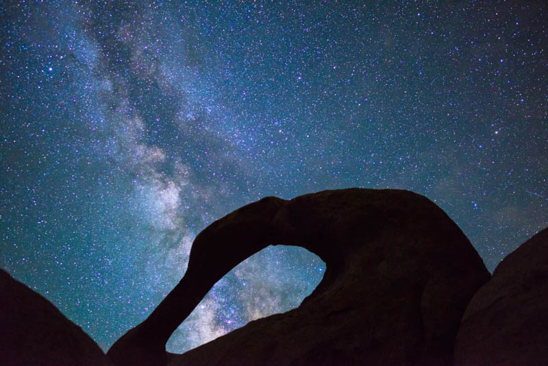 The Milky Way over Mobius Arch in the Alabama Hills