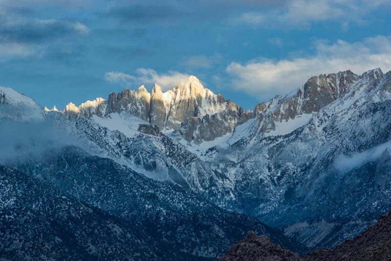 Mount Whitney in the Sierra Nevada of California