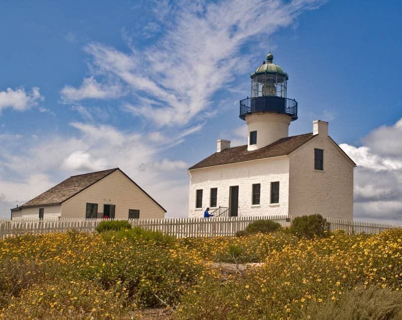 Old Point Loma Lighthouse at Cabrillo NM San Diego