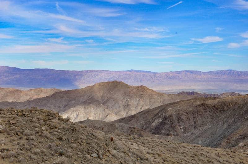 View from Highway 74 near palm Desert California