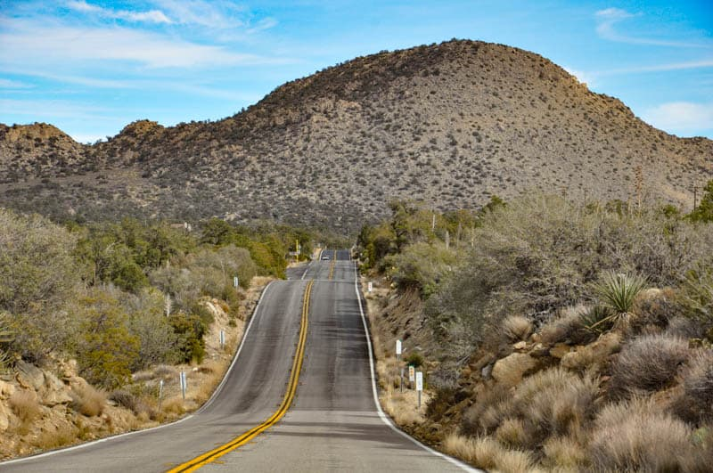 The Palms to Pines Scenic Byway in Southern California