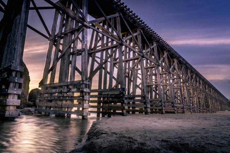Photographing the Pudding Creek Trestle is one of the best things to do in Fort Bragg, CA!