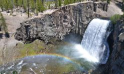 Hike to Rainbow Falls in Mammoth Lakes, California