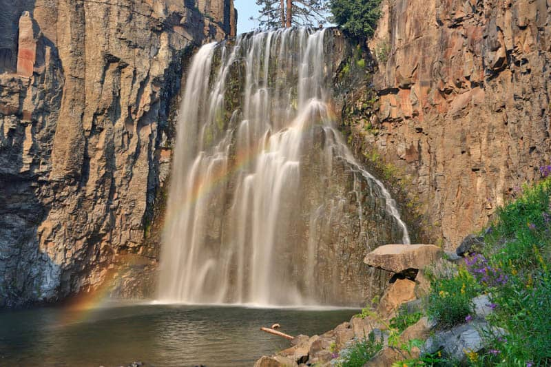 Rainbow Falls, Mammoth Lakes, California, in the Fall