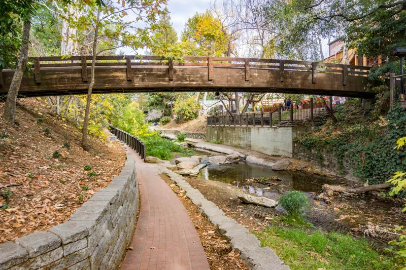 The SLO Creek Walk in San Luis Obispo California