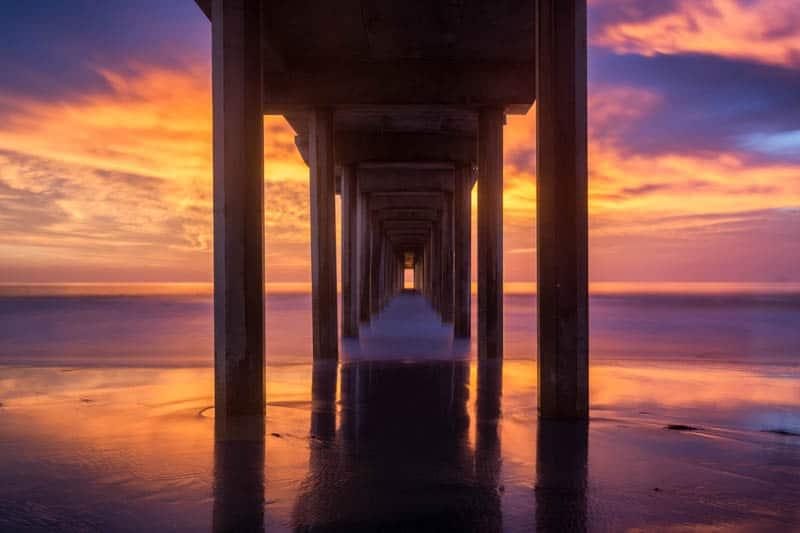 Scripps Pier at Sunset, La Jolla, California
